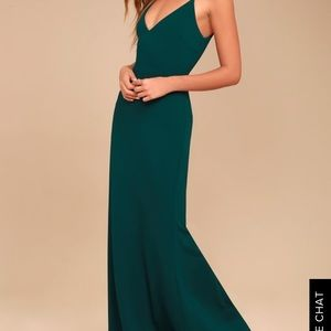 Lulus glory forest green maxi dress